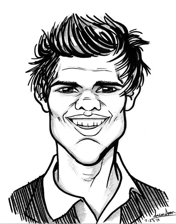 590x749 The Soon Way Celebrity Caricatures