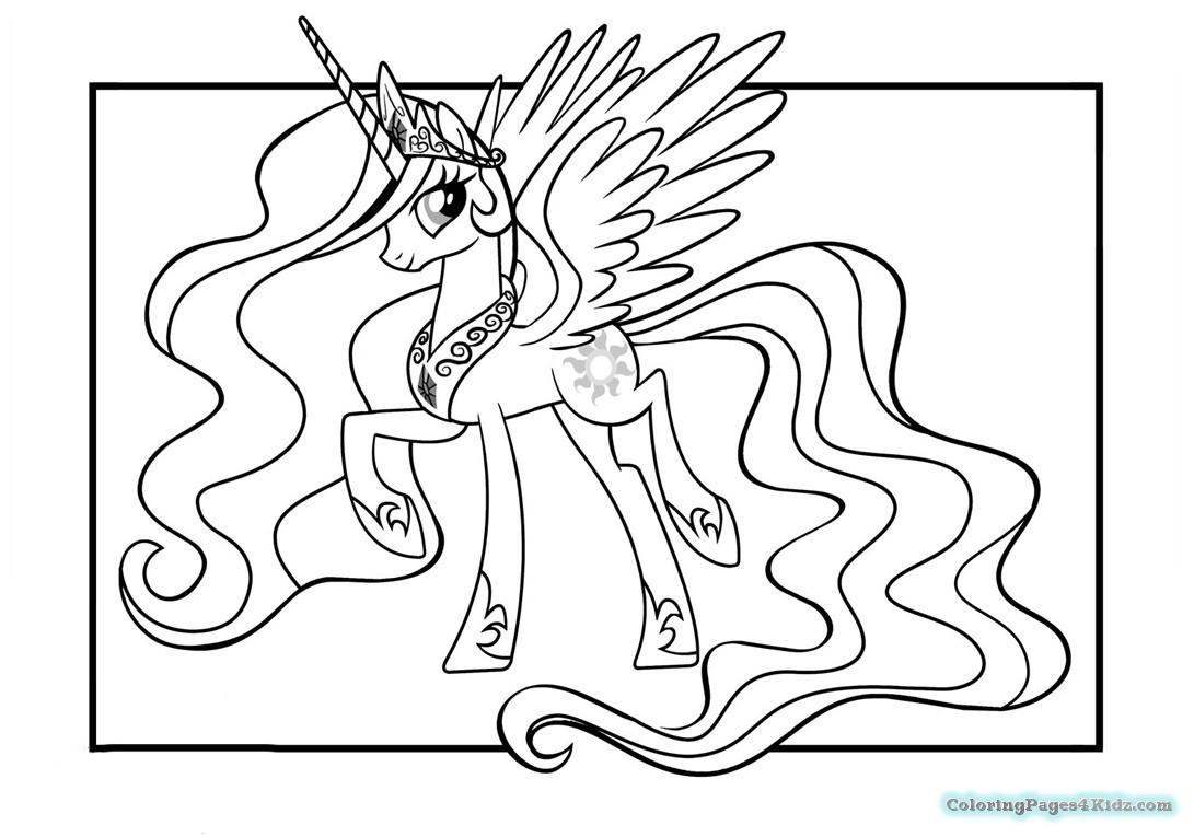 1091x765 My Little Pony Coloring Pages Princess Celestia And Luna