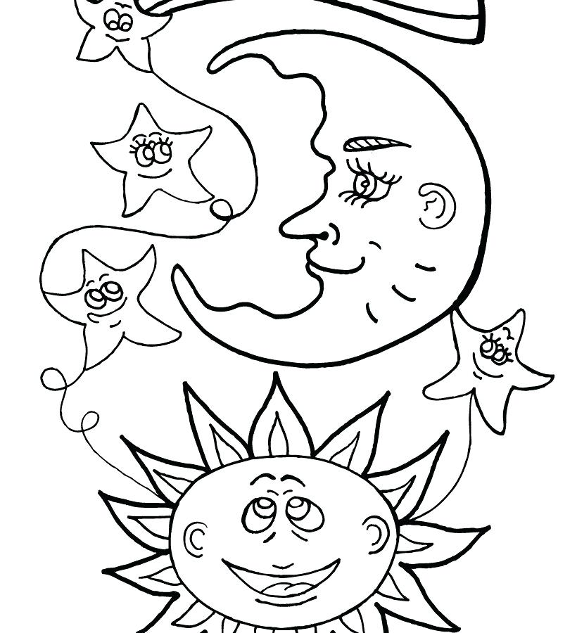 Celestial Sun And Moon Drawing At Getdrawings Com Free For