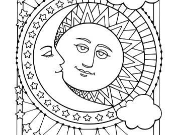 340x270 Sun Moon Stars Etsy