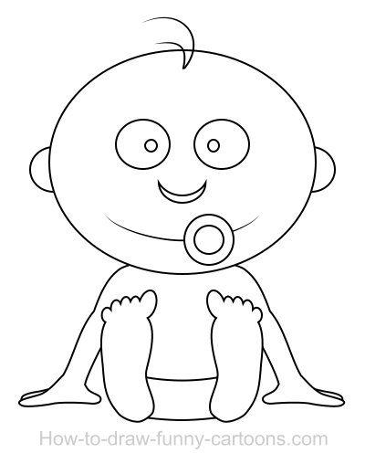 400x508 Drawing A Baby Cartoon