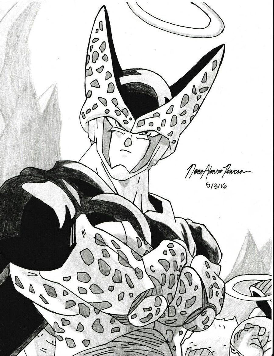 900x1167 Perfect Cell Drawing By Nonotheavatarpearson
