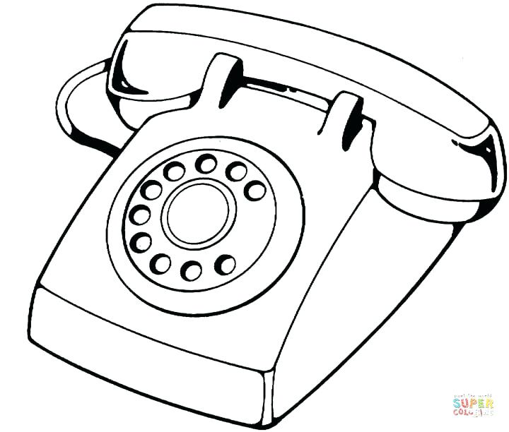 720x612 Telephone Coloring Pages Telephone Coloring Page Free Printable