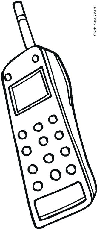 325x765 Phone Coloring Page