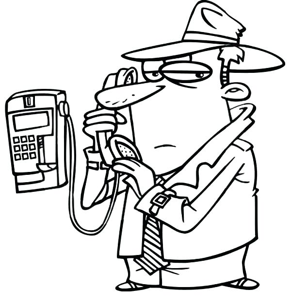 600x630 Cell Phone Coloring Page