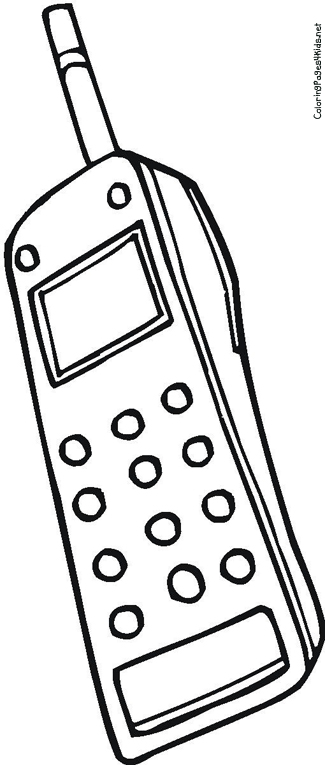 325x765 Cell Phone Coloring Page Free Download