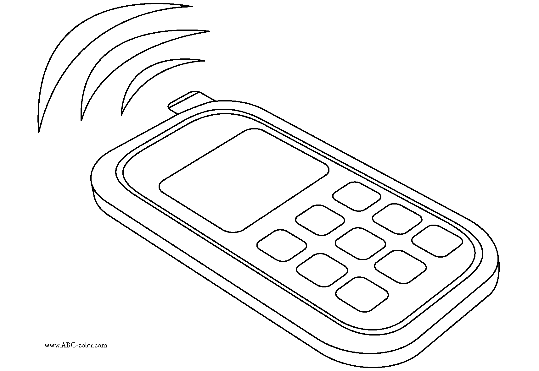 1713x1181 Cell Phone Coloring Pages Many Interesting Cliparts