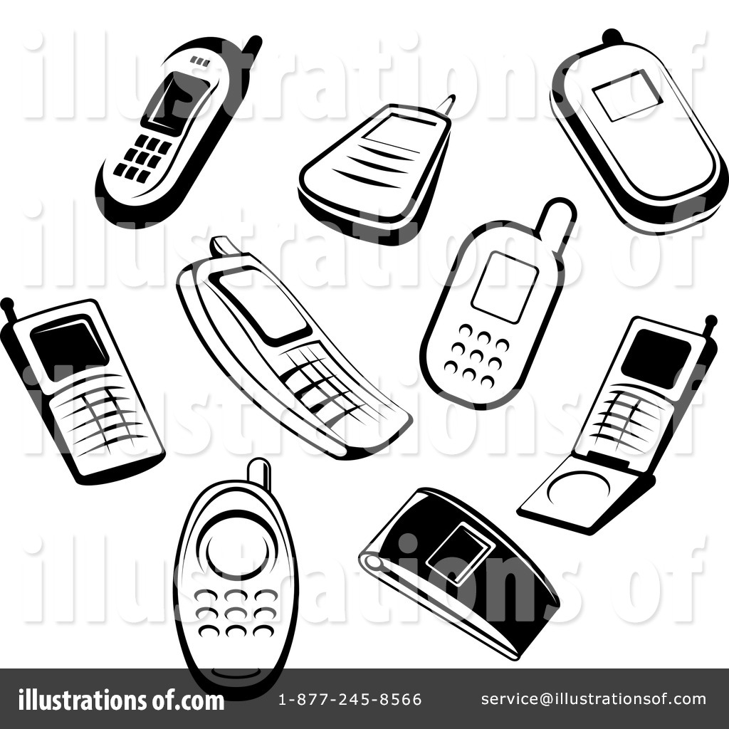 1024x1024 Cell Phones Clipart