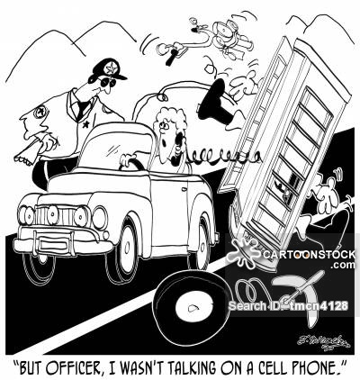 400x422 Driving While Using A Cell Phone Cartoons And Comics