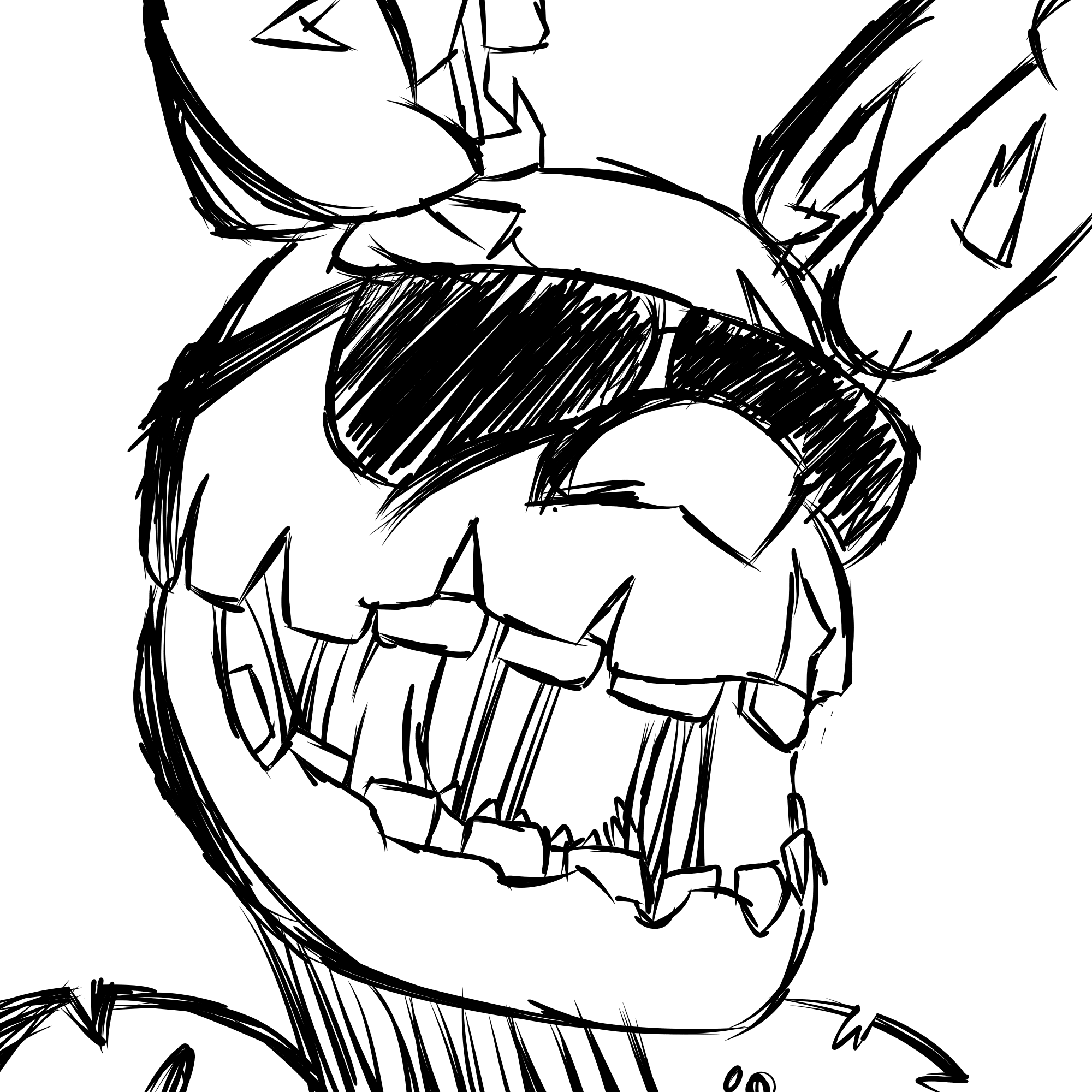 2000x2000 Random Sketch I Did To Test Medibang Paint In My New Cell Phone