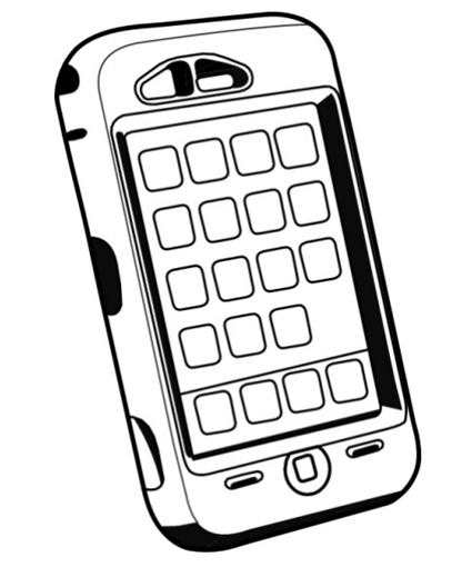 image regarding Printable Phones named Cellular Telephones Drawing at  Totally free for person