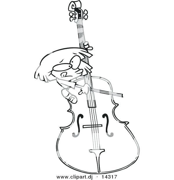 Cello Drawing at GetDrawings.com | Free for personal use Cello ...