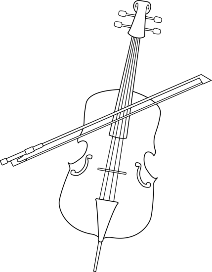 free cello coloring pages - photo#30