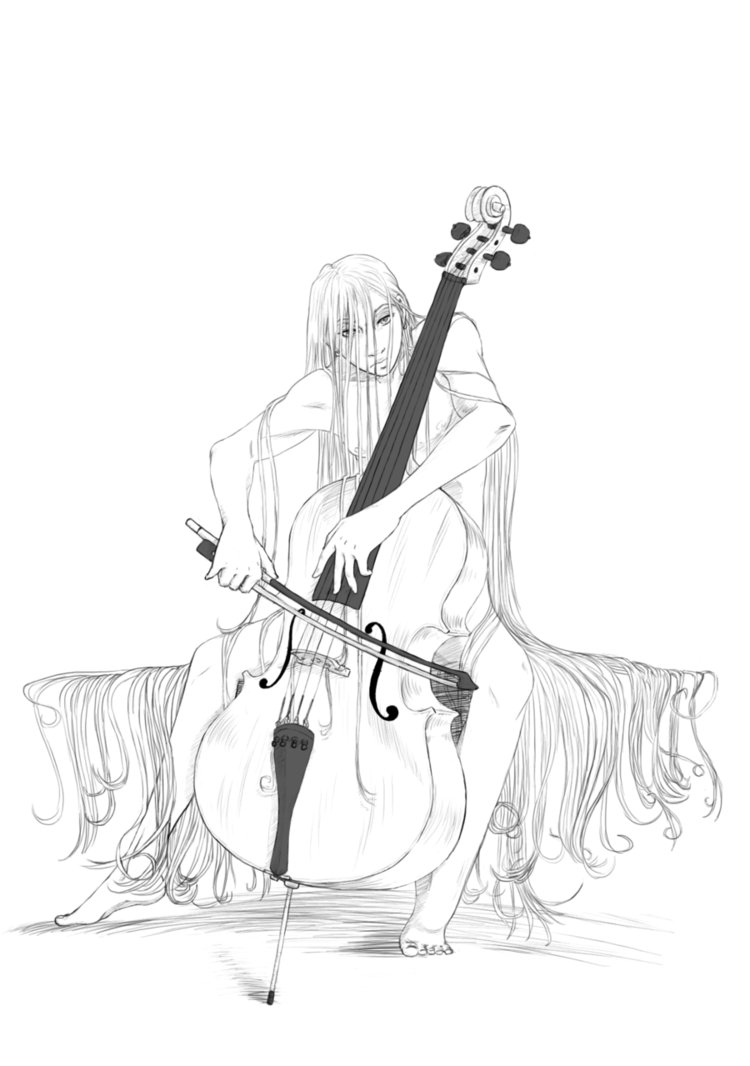 750x1066 Asian Cello Player By Murr Ma Ing