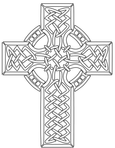 371x480 Celtic Cross Coloring Page Free Printable Coloring Pages