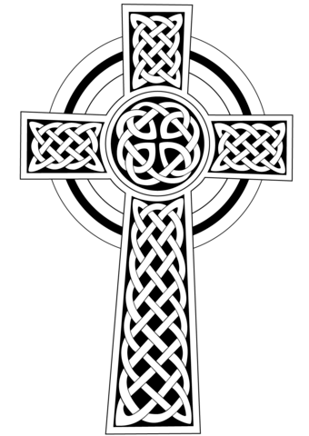 340x480 Celtic Cross Coloring Page Free Printable Coloring Pages