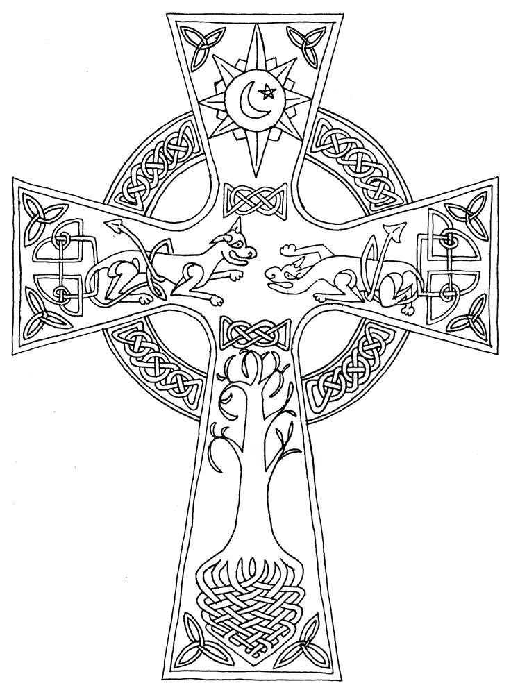 736x994 Best Celtic Cross Coloring Pages Best
