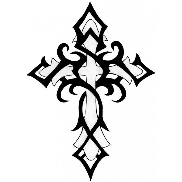 Celtic Cross Line Drawing