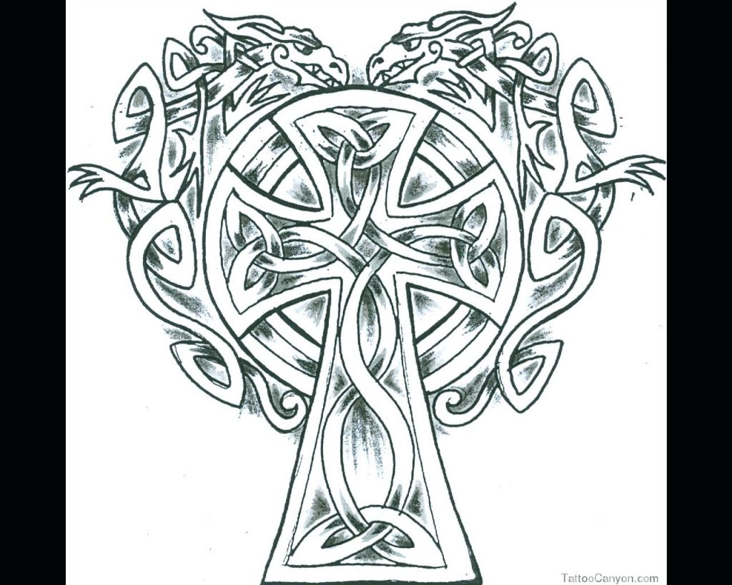1024x819 Coloring Pages Celtic Cross Very Nice Fine In Knot Prepare 18