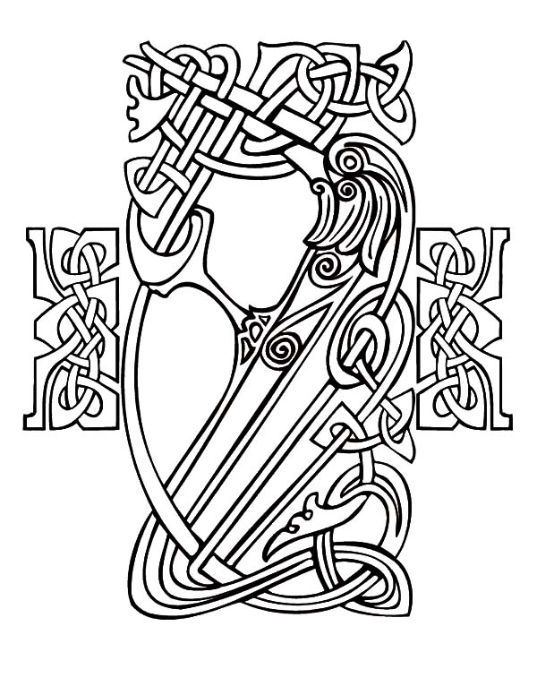 600x776 How To Draw Celtic Cross Knot Coloring Pages Best Place Color