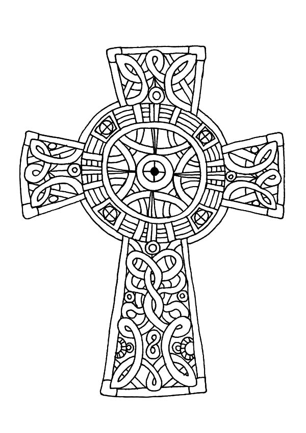 Celtic Cross Line Drawing At Getdrawings Free For Personal Use