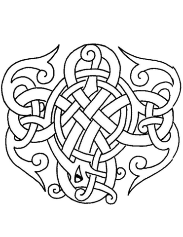 371x480 Celtic Design Coloring Page Free Printable Coloring Pages