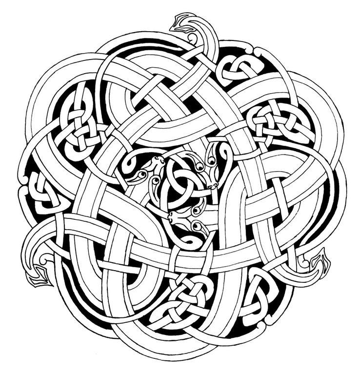 736x763 Celtic Snakes Celtic Celtic Art