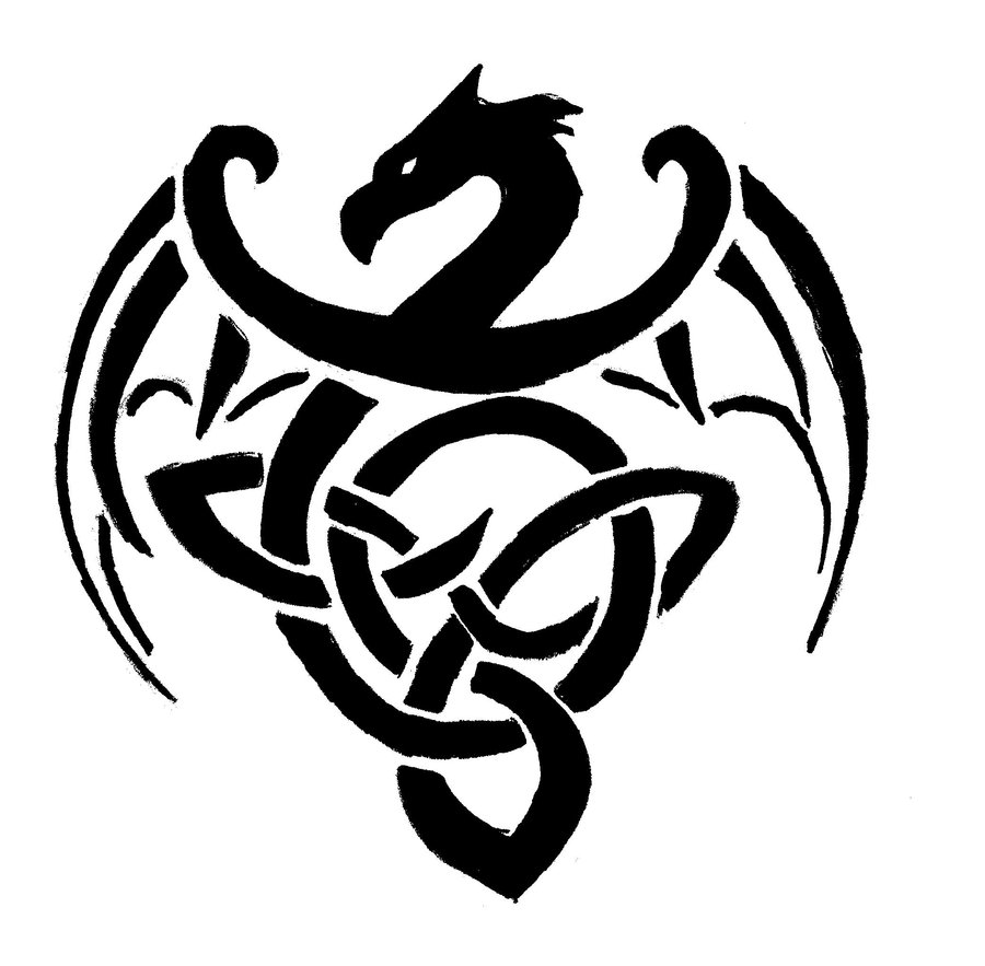 Celtic Dragon Drawing At Getdrawings Free For Personal Use