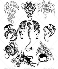 236x280 Dragon Tattoo Pack 2 Celtic Dragon Tattoos, Celtic Dragon