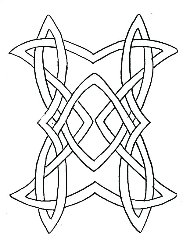 600x785 Celtic Knot Coloring Pages Cross Knot Design Cross Coloring Pages