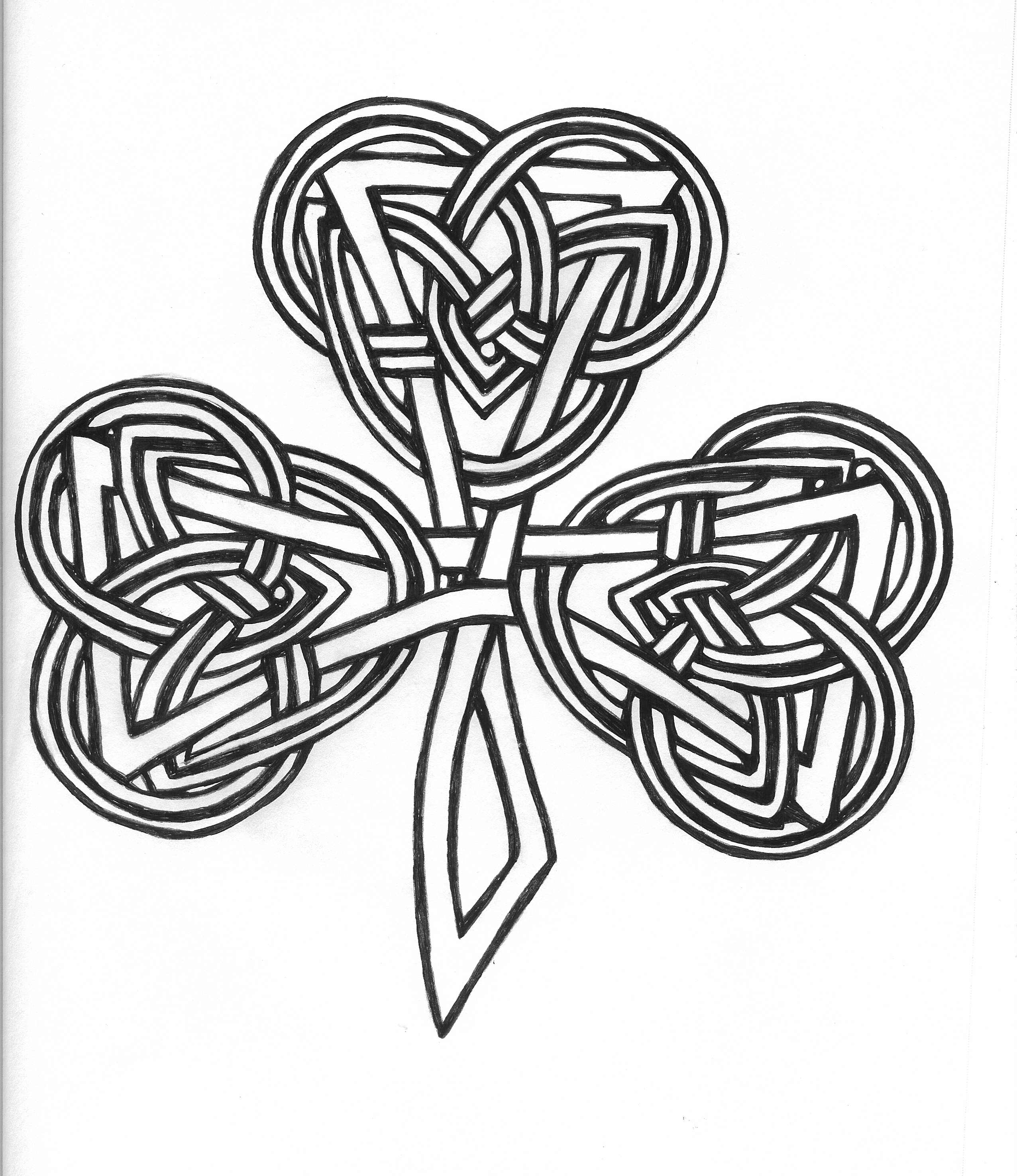 2552x2951 Clover Tattoos 786x1017 Cool Coloring Pages Soccer Clubs Logos Celtic