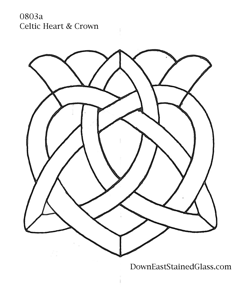 782x924 Celtic Heart Stained Glass Pattern Stained Glass Pattern Club