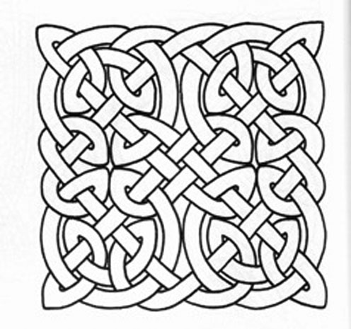 496x465 Free Printable Celtic Knot Patterns