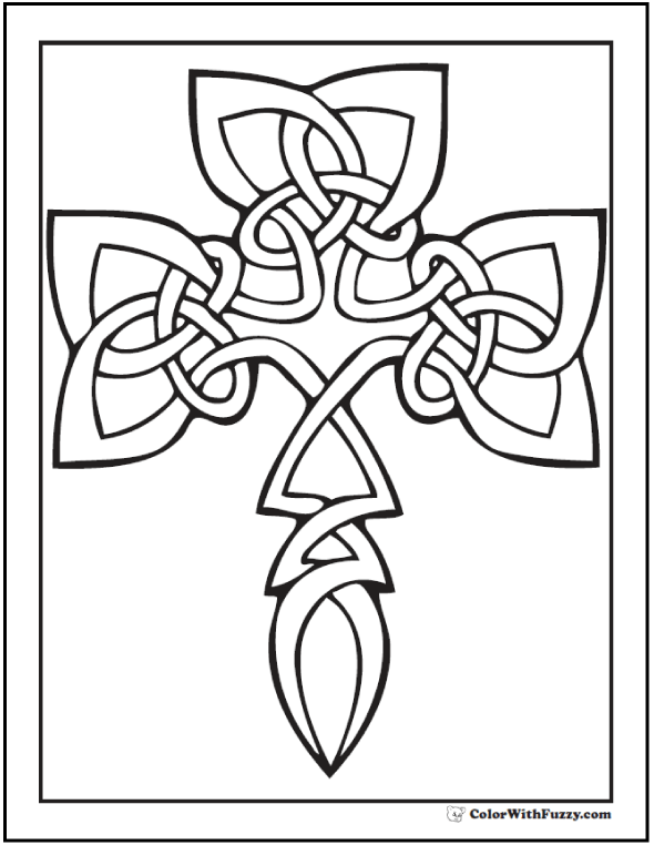 590x762 Shamrock Celtic Knot Coloring Page Knots Patterns