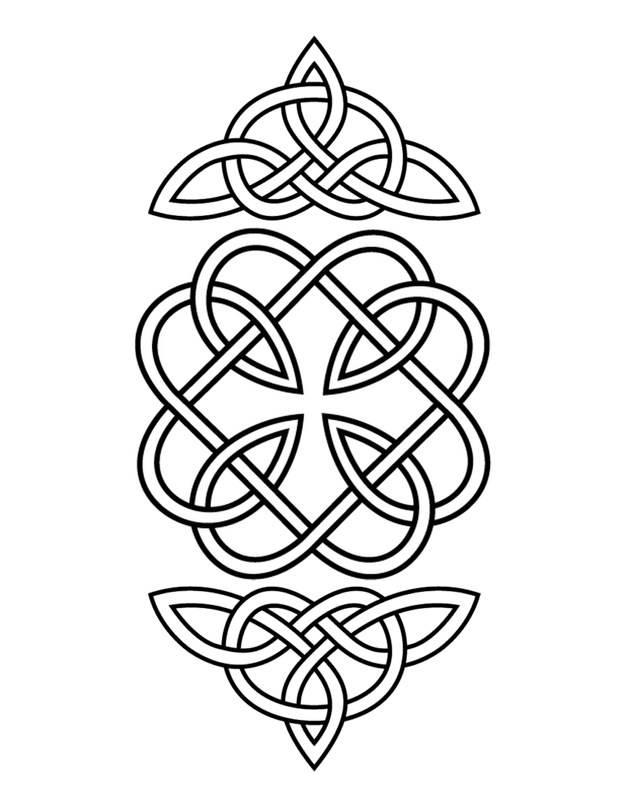 1275x1650 Celtic Knot To Print, Click The Image Then Choose Print