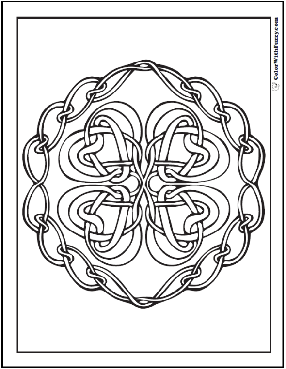 590x762 90 Celtic Coloring Pages Irish Scottish Gaelic Knot