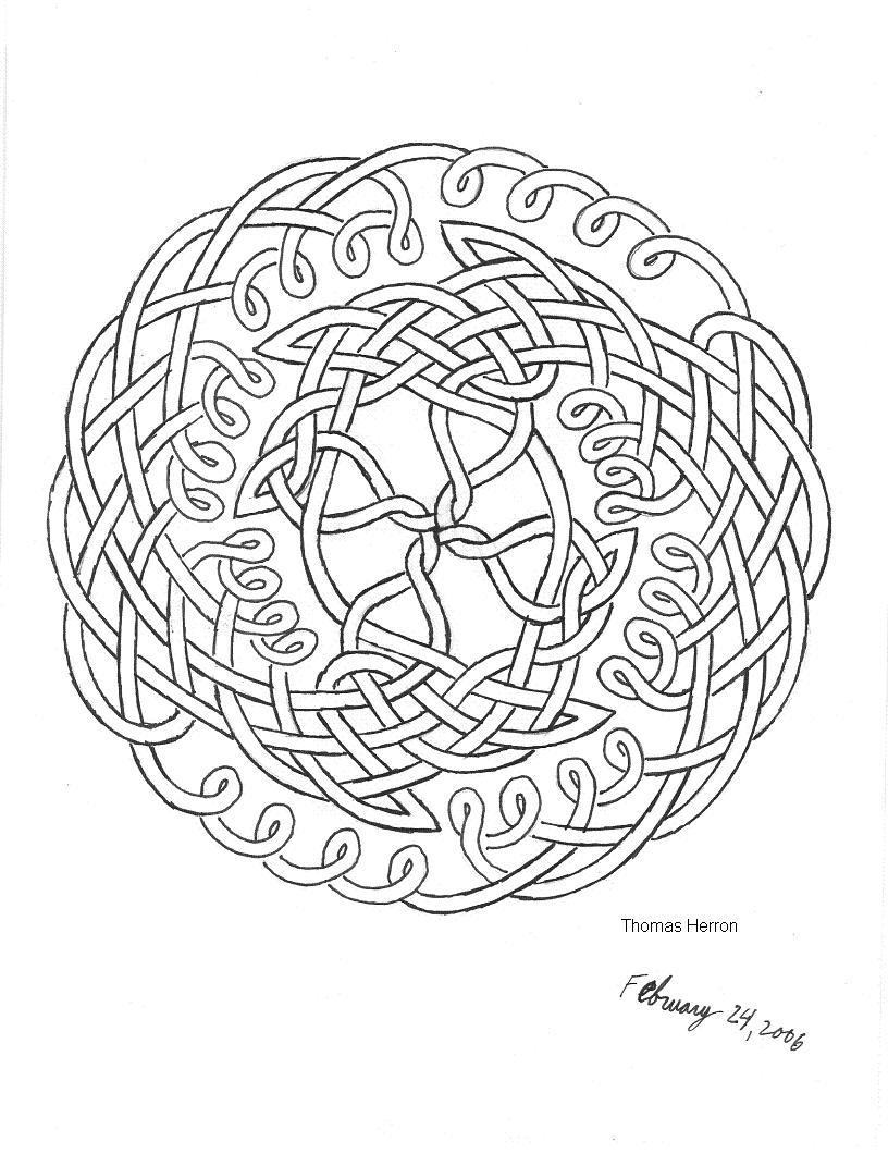 816x1060 Celtic Knot Pattern