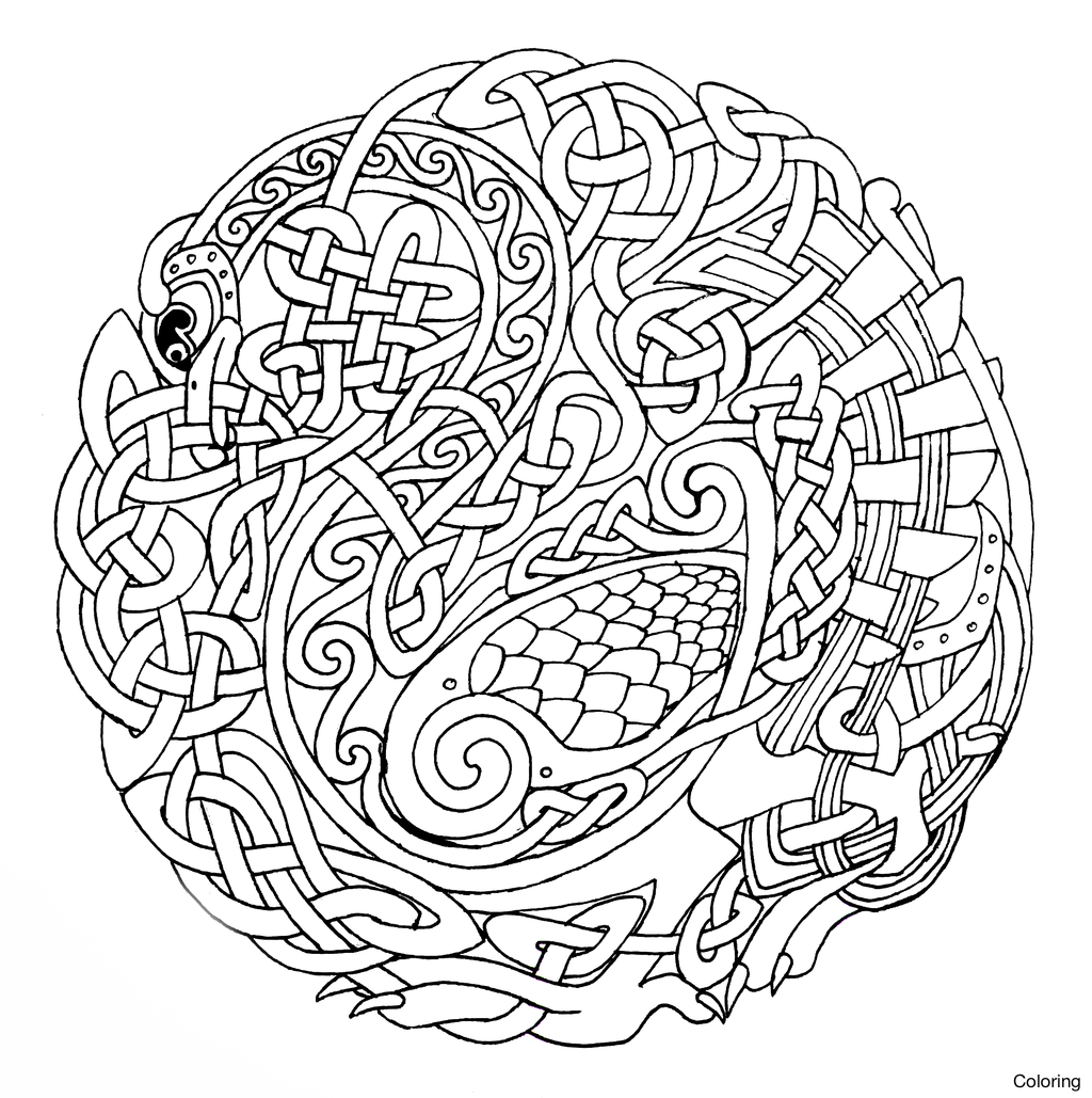 1024x1029 Free Celtic Coloring Pages For Kids Knot 25f Printable To Print