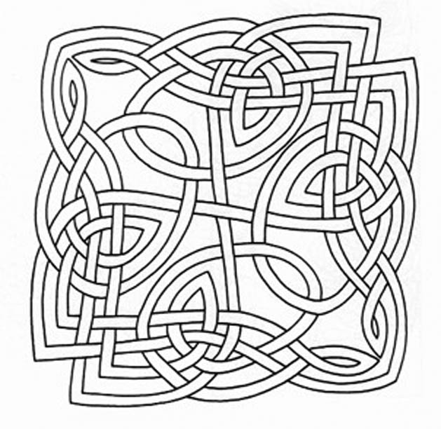Free Celtic Design Coloring Pages