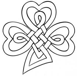 302x298 How To Draw A Celtic Clover Knot Step 6 Celts