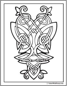 236x304 Celtic Design Art Coloring Pages For Kids Colouring Pictures To