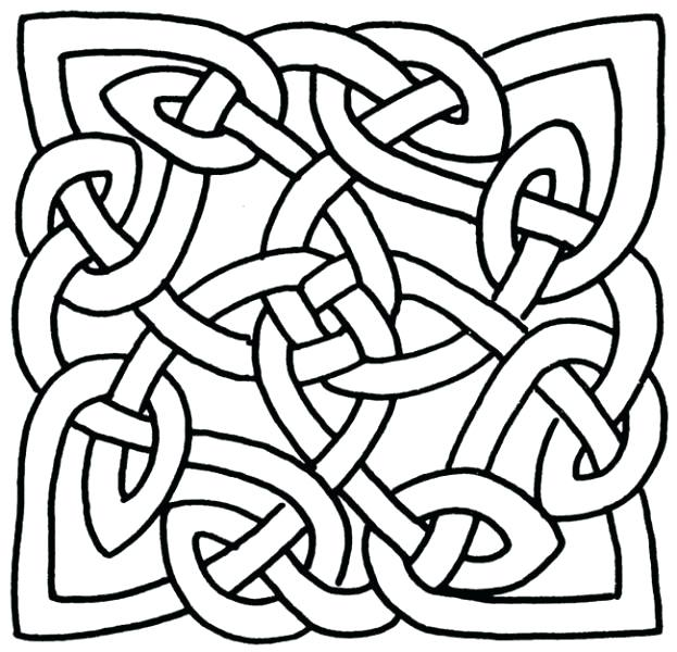 623x600 Celtic Designs Coloring Pages Knot Image By