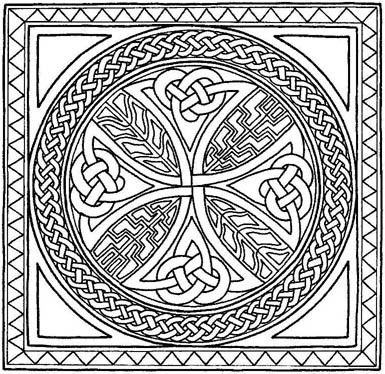 Celtic Cross Line Drawing at GetDrawingscom Free for personal use