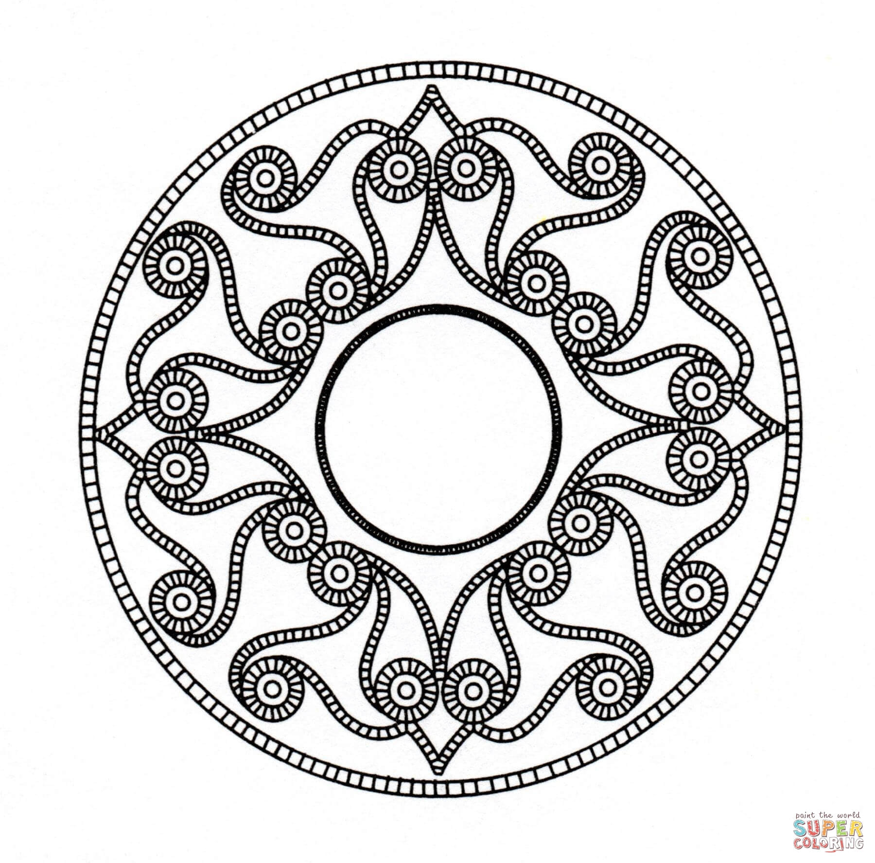 1800x1774 Celtic Mandala 3 Coloring Page Free Printable Pages