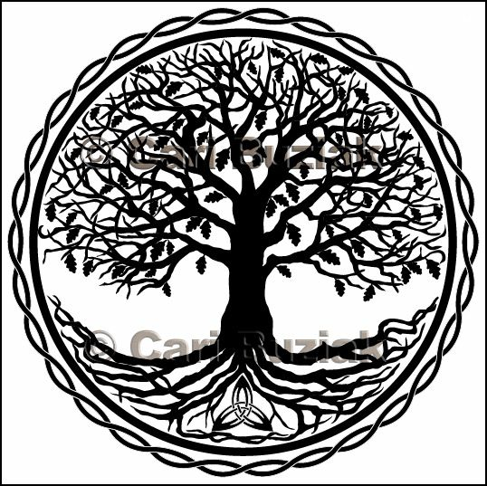 Celtic Tree Of Life Drawing