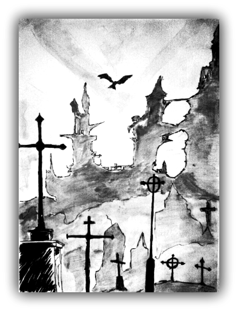 471x614 Cemetery Drawing Tumblr