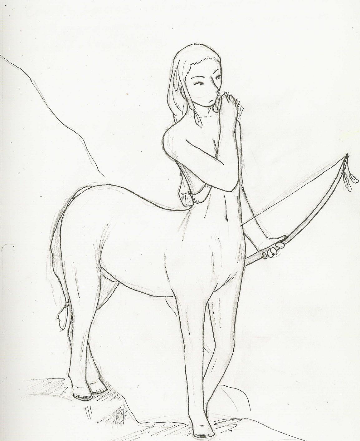 1154x1412 Centaur Drawing By Gowa
