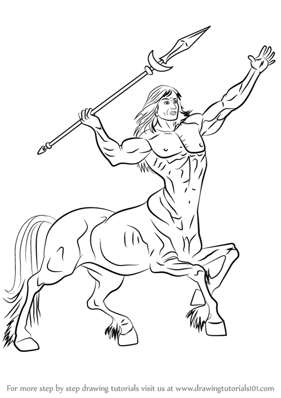 566x800 Learn How To Draw A Centaur (Other Creatures) Step By Step