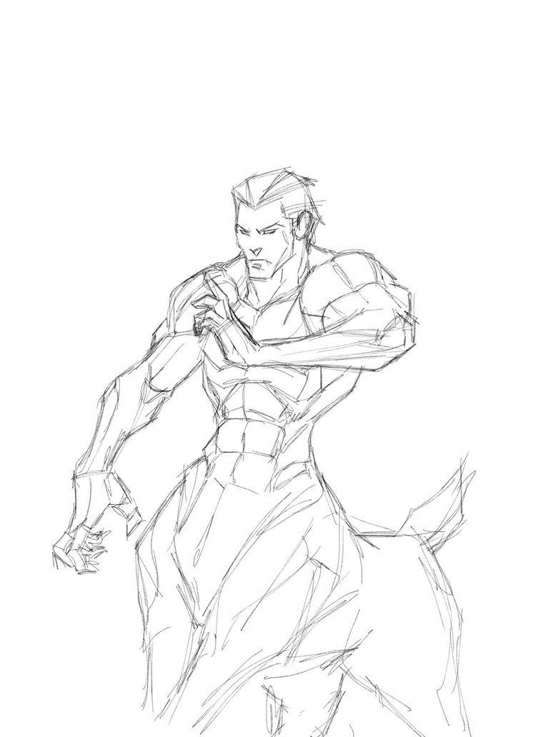 774x1032 Wip Ipad Centaur Sketch By Revoincubus