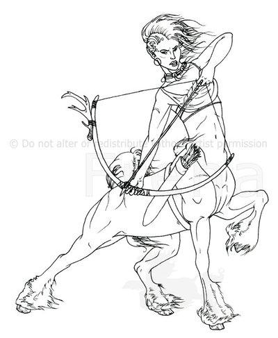 400x487 Centaur Archeress By Freha